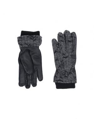 Перчатки Y-3. Цвет: стальной серый