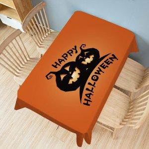 Скатерть с принтом тыквы на хэллоуин SHEIN. Цвет: многоцветный