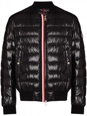 Куртка Perogues на молнии Moncler. Цвет: синий