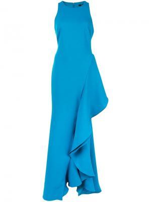 Платье оверсайз с оборками Badgley Mischka