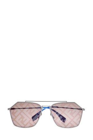 Солнцезащитные очки из легкого ацетата с запаянным принтом FF FENDI (sunglasses). Цвет: коричневый