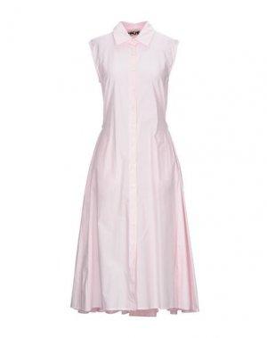 Платье длиной 3/4 HACHE. Цвет: розовый