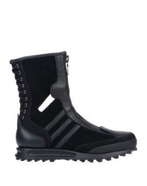 Полусапоги и высокие ботинки Y-3. Цвет: черный
