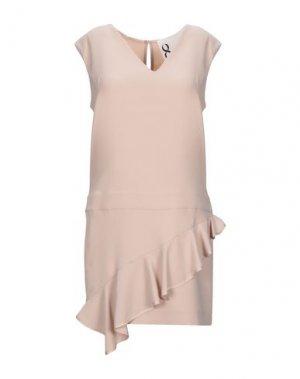 Короткое платье 8PM. Цвет: телесный