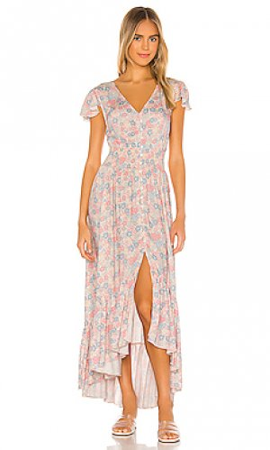 Платье миди festival Bobi. Цвет: розовый