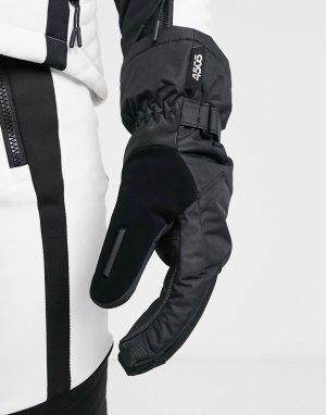 Черные горнолыжные перчатки -Черный цвет ASOS 4505