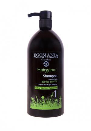 Шампунь для секущихся волос Egomania Prof Hairganic+ - 1000 мл. Цвет: черный