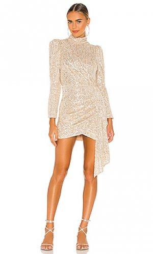 Мини платье bianca SAYLOR. Цвет: металлический золотой