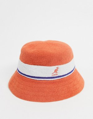 Оранжевая панама в полоску bermuda-Оранжевый цвет Kangol