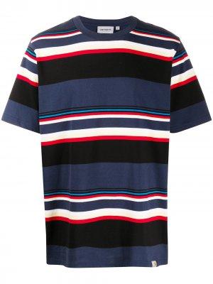 Полосатая футболка с круглым вырезом Carhartt WIP. Цвет: синий