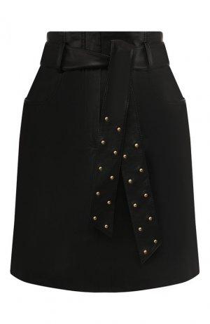 Кожаная юбка Escada Sport. Цвет: черный