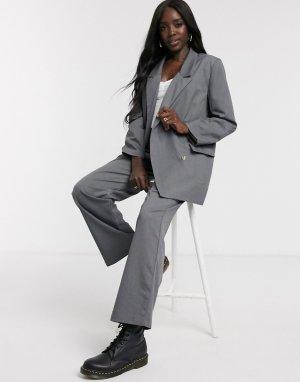 Удлиненный пиджак от комплекта -Серый Daisy Street