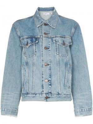 Мешковатая джинсовая куртка Perfect с эффектом потертости Re/Done. Цвет: синий