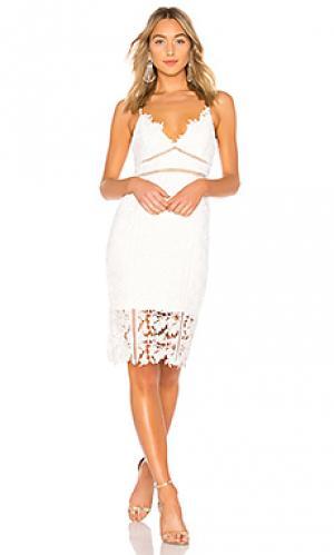 Платье botanica Bardot. Цвет: белый