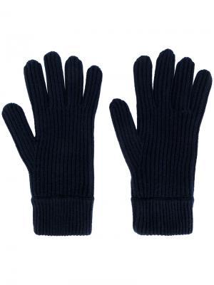 Трикотажные перчатки Malo. Цвет: синий