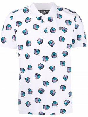 Рубашка поло с принтом Hydrogen. Цвет: белый