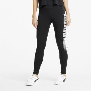 Леггинсы Essentials Graphic Womens Leggings PUMA. Цвет: черный