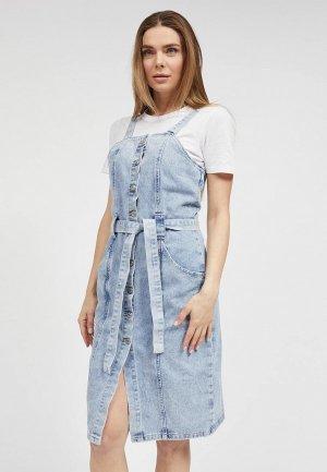 Платье джинсовое Mossmore. Цвет: голубой