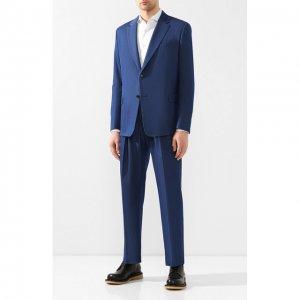 Хлопковый костюм Valentino. Цвет: синий