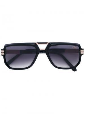 Солнцезащитные очки с квадратной оправой Cazal. Цвет: черный