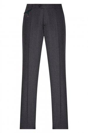 Серые классические брюки со стрелками Berwich. Цвет: серый