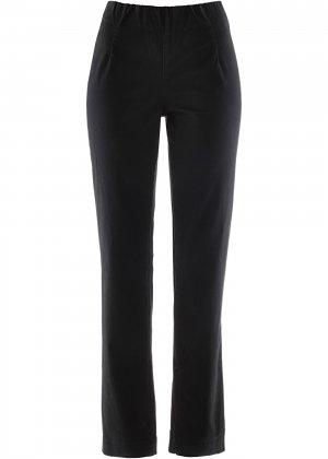 Прямые брюки стретч без застежки bonprix. Цвет: черный