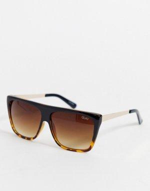 Солнцезащитные очки в черепаховой оправе Quay Australia