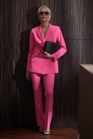 Брюки расклешенные от колена VASSA&Co. Цвет: розовый
