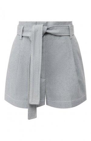Хлопковые шорты 3.1 Phillip Lim. Цвет: синий