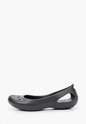 Балетки Crocs. Цвет: черный
