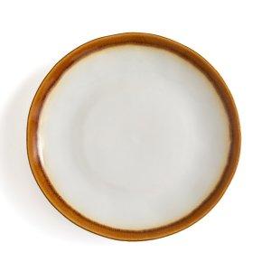 Комплект из 6 тарелок плоских LaRedoute. Цвет: белый