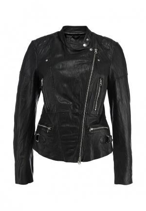 Кожаная куртка s.Oliver. Цвет: черный