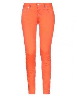 Повседневные брюки MAISON CLOCHARD. Цвет: оранжевый