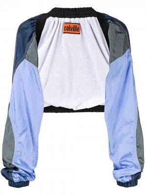 Укороченная блузка-болеро colville. Цвет: синий
