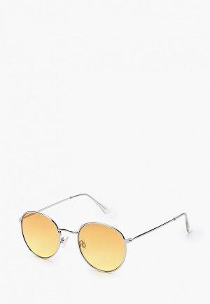 Очки солнцезащитные Topman. Цвет: серебряный