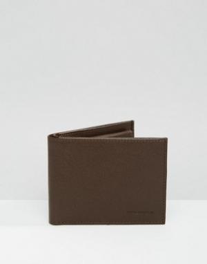 Кожаный бумажник Royal Republiq. Цвет: коричневый
