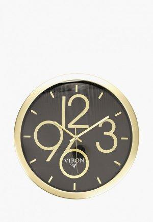 Часы Viron настенные, d 35 см. Цвет: золотой