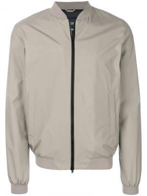Ветровка в стилистике куртки-бомбер Herno. Цвет: серый