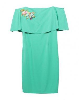 Платье до колена CASTING. Цвет: зеленый