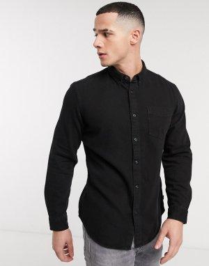 Черная джинсовая рубашка -Черный Esprit