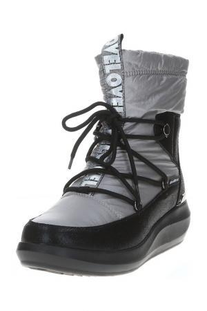 Полусапоги King Boots. Цвет: серый
