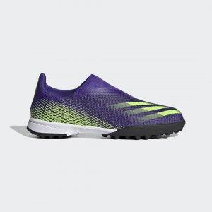 Футбольные бутсы X Ghosted.3 Laceless Performance adidas. Цвет: зеленый