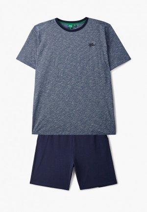 Пижама D555. Цвет: синий
