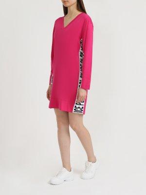 Платье с длинным рукавом Ice Play. Цвет: rozovyy