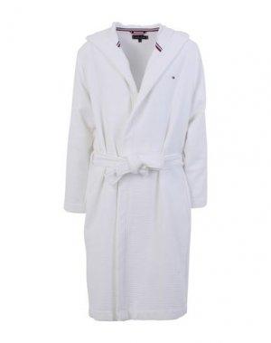 Банный халат TOMMY HILFIGER. Цвет: белый