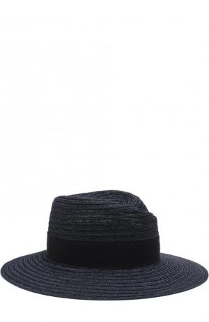 Шляпа Virginie с лентой Maison Michel. Цвет: синий