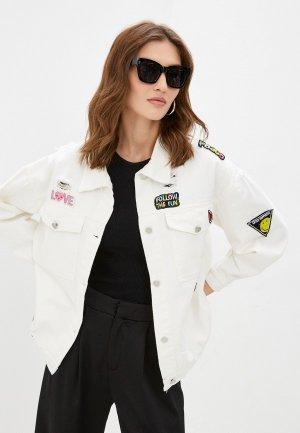 Куртка джинсовая Moki. Цвет: белый