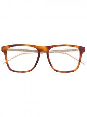 Очки в квадратной оправе Gucci Eyewear. Цвет: коричневый