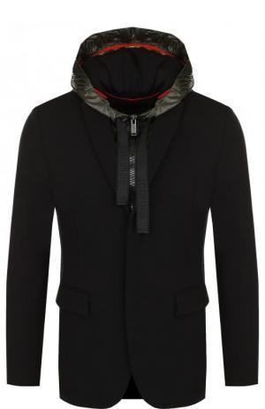 Однобортный пиджак из вискозы с подстежкой Iceberg. Цвет: черный