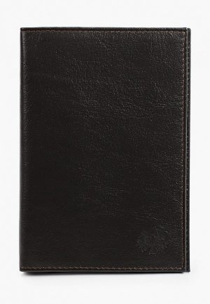 Обложка для паспорта Qoper. Цвет: коричневый